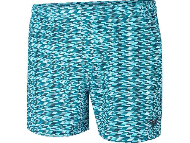 "speedo Vintage Leisure 14"" Uimashortsit Miehet, vintage stripe true navy/blue bay"